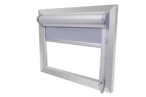 rolgordijn met zijgeleider interiorqueen interieurblog badkamer