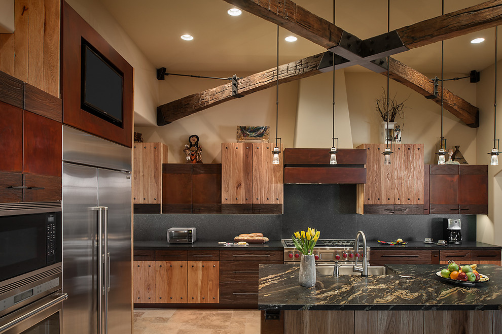 Rustic Luxury Kitchen - Interiors By Color on Rustic:1Gdhjdx6F3G= Farmhouse Kitchen  id=29267