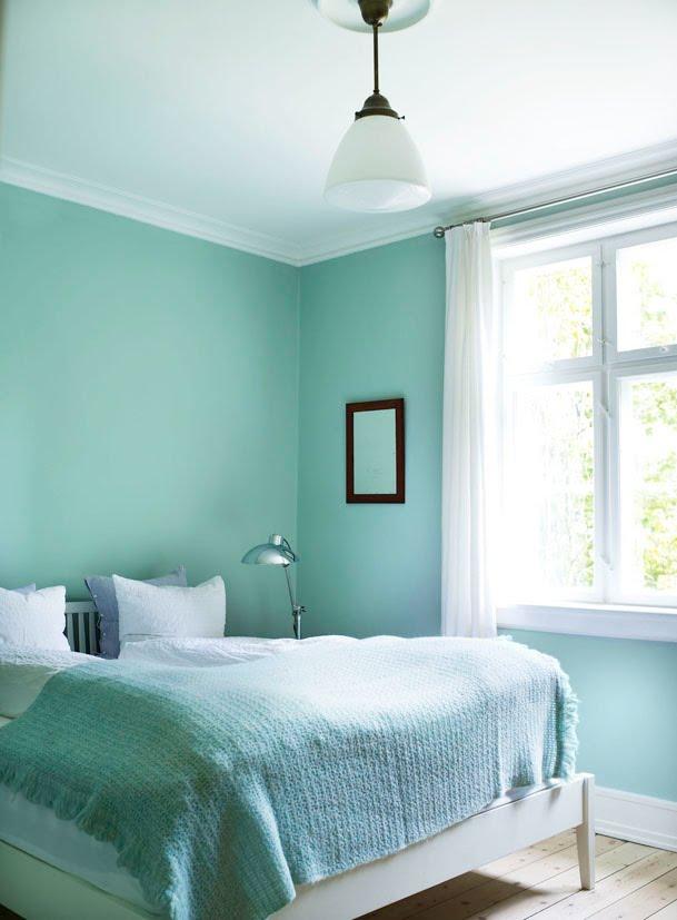 Scandinavian Mint Bedroom Interiors By Color