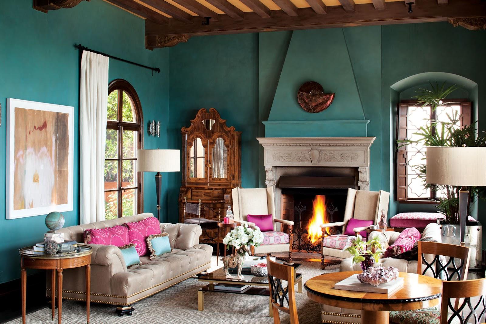 Spanish Moorish Living Room
