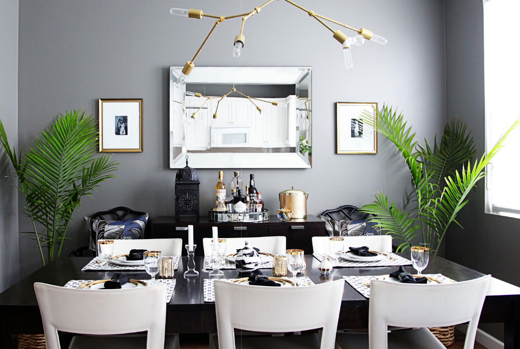 Modern Glam Dining Interiors By Color