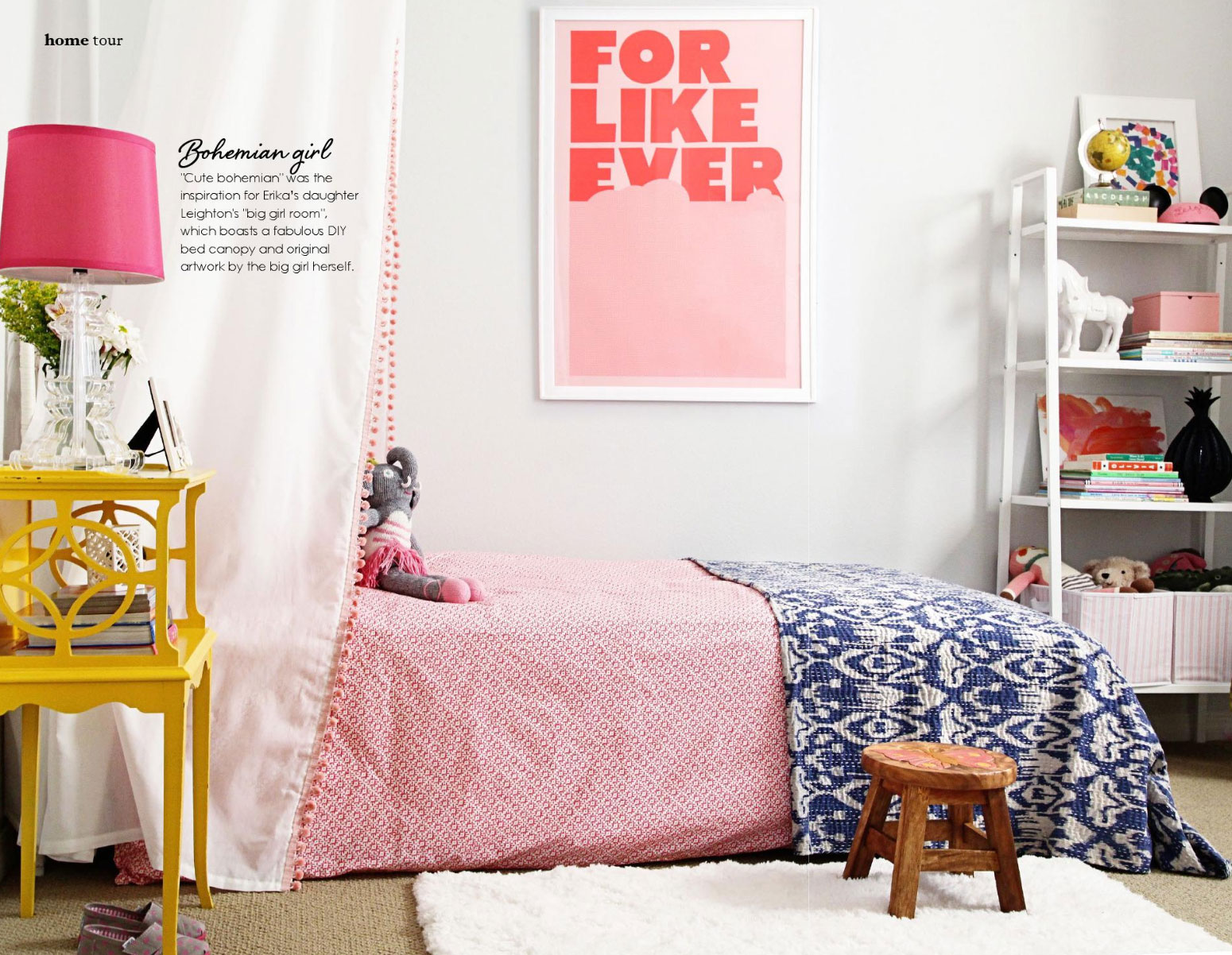 Cute Bohemian Bedroom Interiors By Color