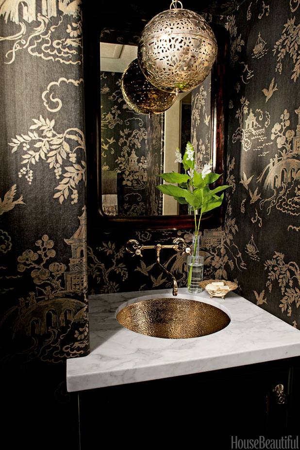 Black And Copper Bathroom Interiors By Color