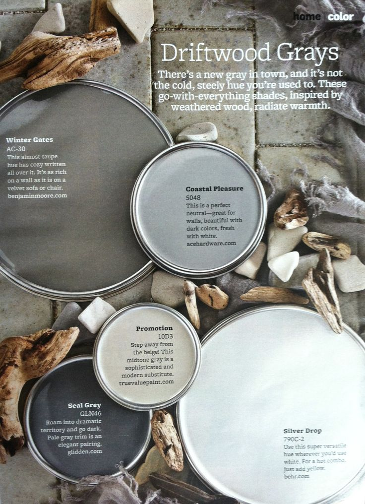Paint Palette Driftwood Grays Interiors By Color