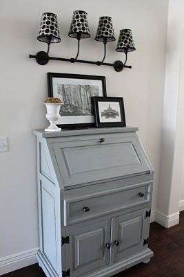 Benjamin Moore Puritan Gray Secretary Desk Interiors By Color