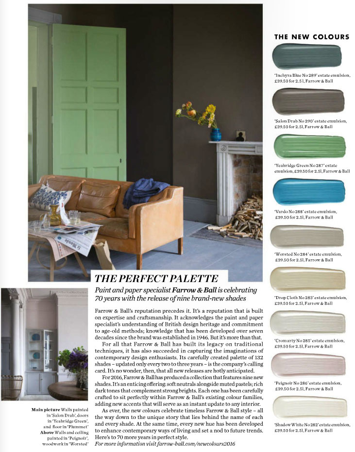 The Perfect Paint Palette By Farrow Ball Interiors By Color