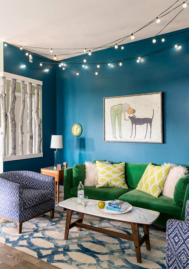 Cool Home In Turquoise With Green Accents Interiors By Color