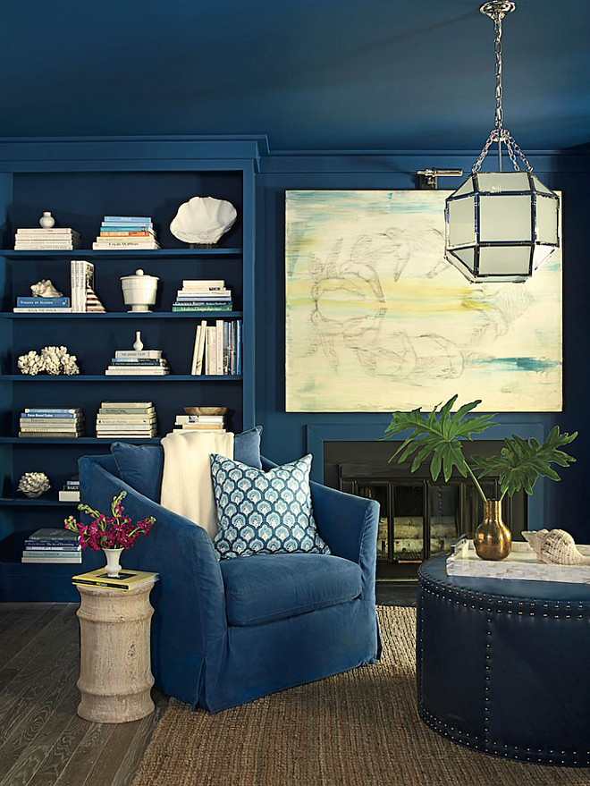9 Interior Decor Living Rooms In Moody Blue Interiors By Color