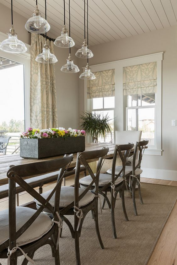 dining room interior in sherwin williams agreeable gray on sherwin williams dining room colors id=36924