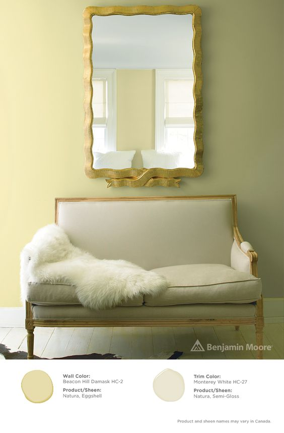 Benjamin Moore Beacon Hill Damask Interiors By Color