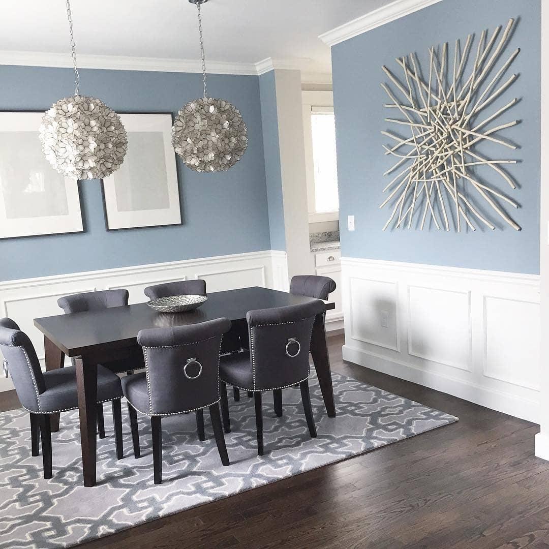 Benjamin Moore Nimbus Grey Dining Room Interiors By Color