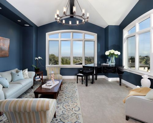 Benjamin Moore Van Deusen Blue Navy Paint Color Schemes