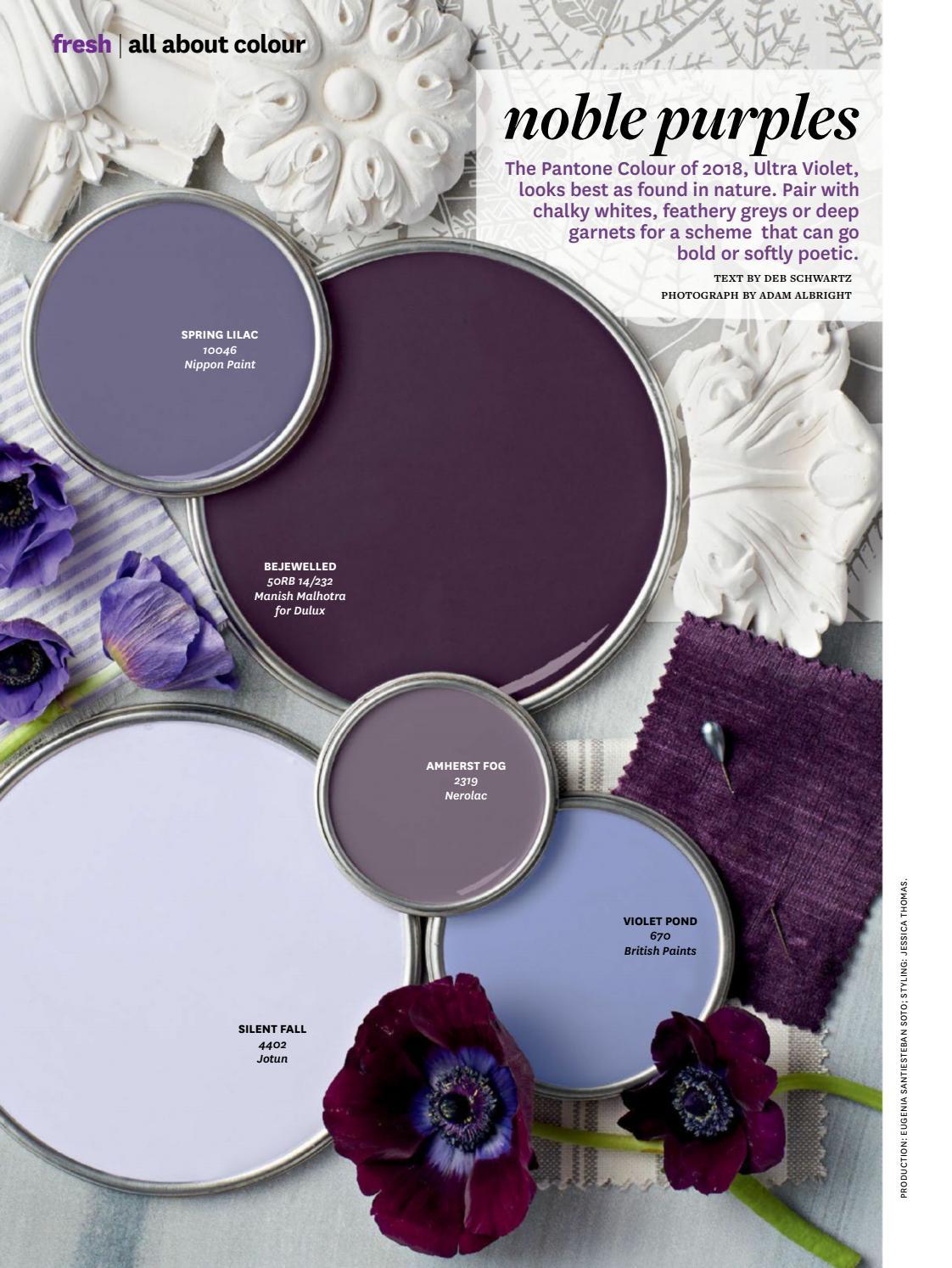 Noble Purples Paint Color Palette Interiors By Color