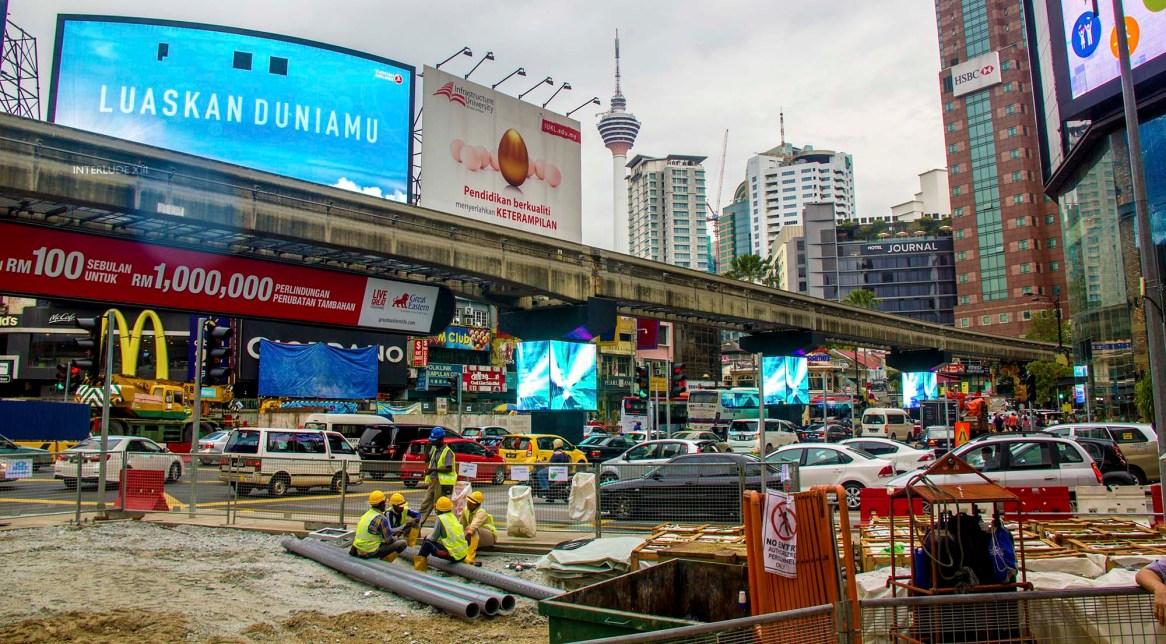 KualaLumpurBukitBintangTravauxRoadWork
