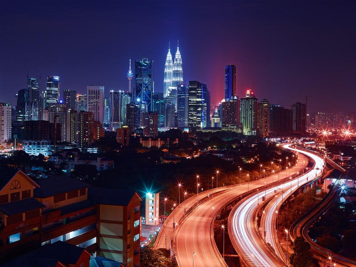KualaLumpurNightNuitHighwayAutoroute