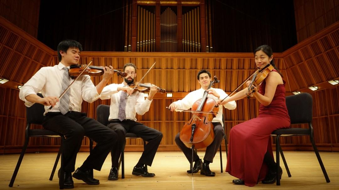 Telegraph-Quartet(L-R)_Eric-Chin(violin)_Joseph-Maile(violin)_Jeremiah-Shaw(cello)_Pei-Ling-Lin(viola)_photo-Eric-Chin