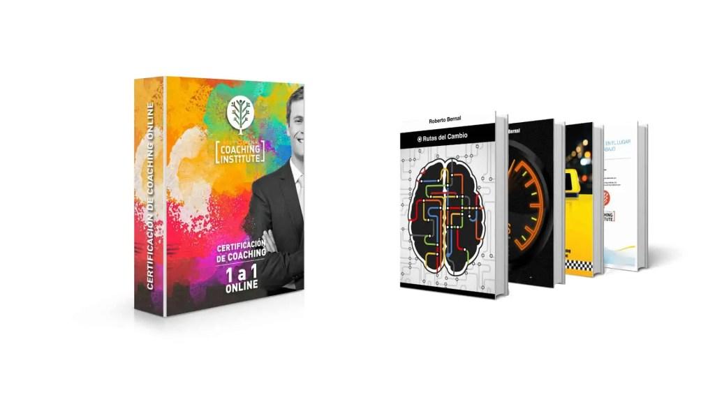 Un manual, tres libros y un reporte como parte de los recursos de la certificación de coaching online