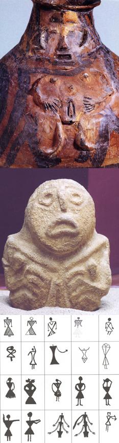 Machang Phase pot, Majiayao Culture ca. 2300 BCE, National Museum of China; crouching stone