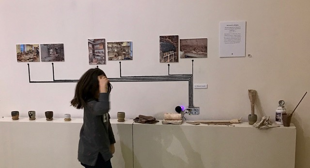 Interactive display, Leach Pottery: The Sound of It exhibition at Crafts Study Centre, January - December 2017. Photo by Loucia Manopoulou
