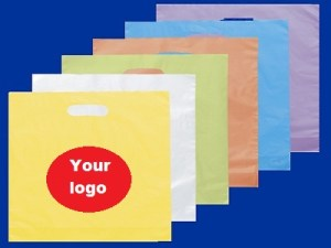 wholesale custom printed plastic bags custom-die-cut