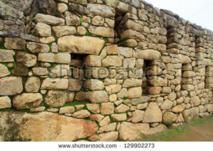 stock photo inca wall manchu picchu peru