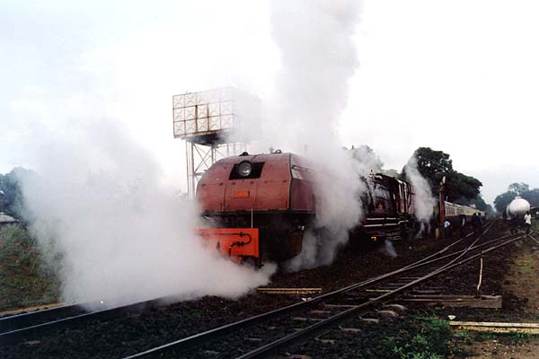 Steam engine on the Kenya - Uganda Railway during the colonial era. Picture by www.internationalsteam.co.uk