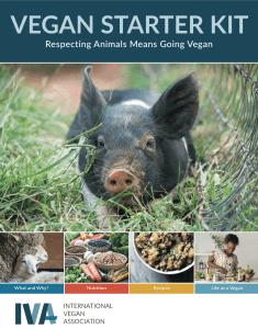 The IVA's updated Vegan Starter Kit