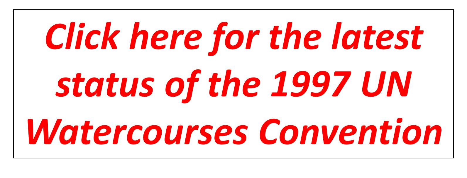 Watercourse Convention Set to Enter into Force on 17 August 2014