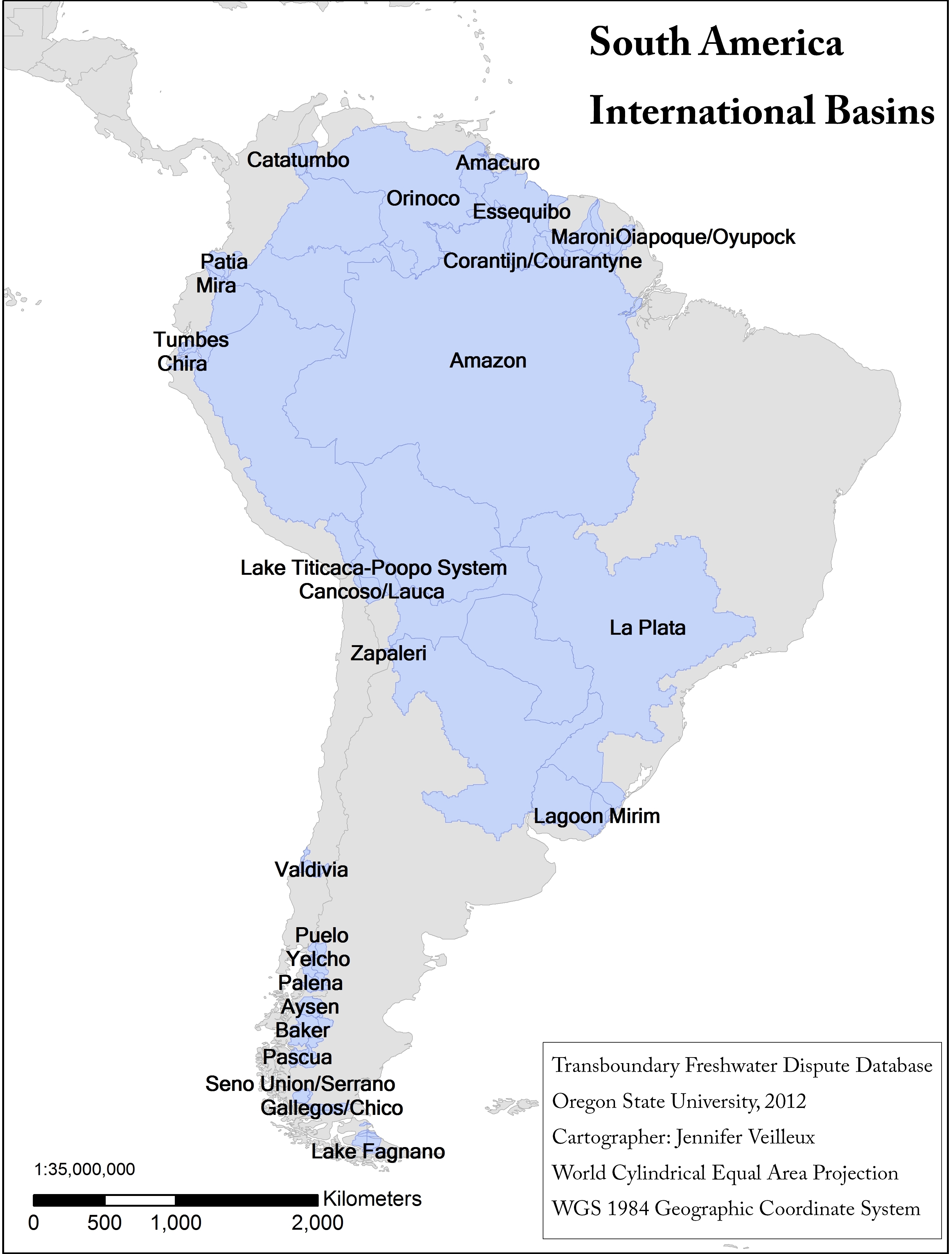 International water law project blog latin america archives international basins of south america publicscrutiny Images