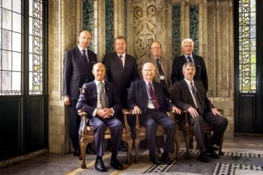 Members of the Court of Arbitration, 20 August 2012 Standing : H.E. Judge Peter Tomka, Judge Bruno Simma, Professor Lucius Caflisch, Professor Jan Paulsson. Seated : Sir Franklin Berman KCMG QC, Judge Stephen M. Schwebel (Chairman), Professor Howard S. Wheater FREng