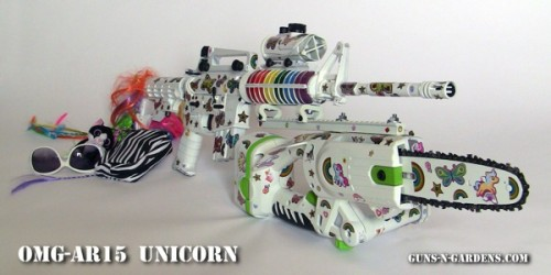 The OMG-AR15 Unicorn zombie gun