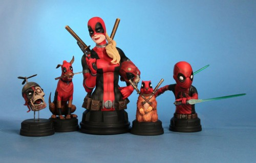 deadpool busts 500x318 Awesome Deadpool Busts