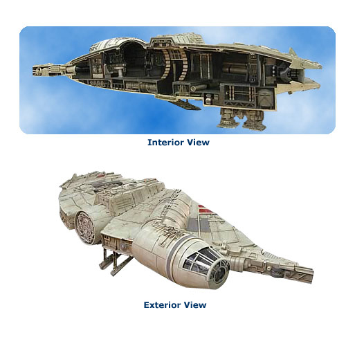 millenium falcon cut away statue Star Wars Millennium Falcon Resin Diorama Statue Sculpture