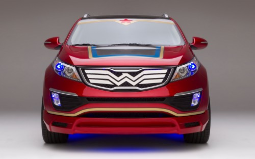 Wonder Woman Kia Sportage front profile 500x312 Kia's Wonder Woman Car Is Not Invisible