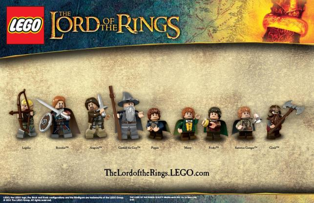 LOTR Lineup 1.30.12 Lord of the Rings Lego