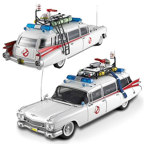ecto one Ghostbusters Ecto 1 Hot Wheels Elite 1:18 Scale Vehicle