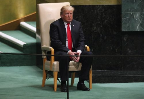 3FX37YGA7QI6REGJEP4WH3VCAQ 500x345 'People actually laughed at a president': At U.N. speech, Trump suffers the fate he always feared