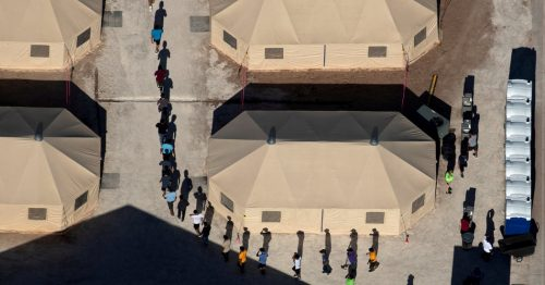 00tentcamp facebookJumbo 500x262 Migrant Children Moved Under Cover of Darkness to a Texas Tent City