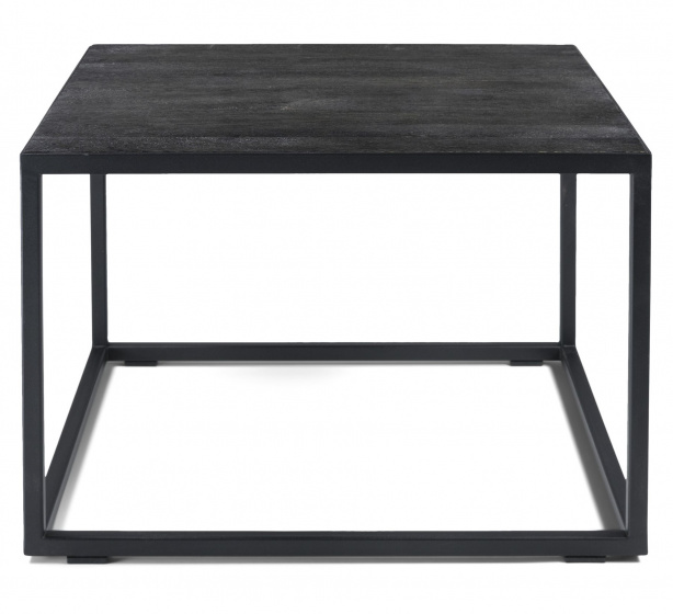 coffee table daniel60 x 40 cm steel wood black