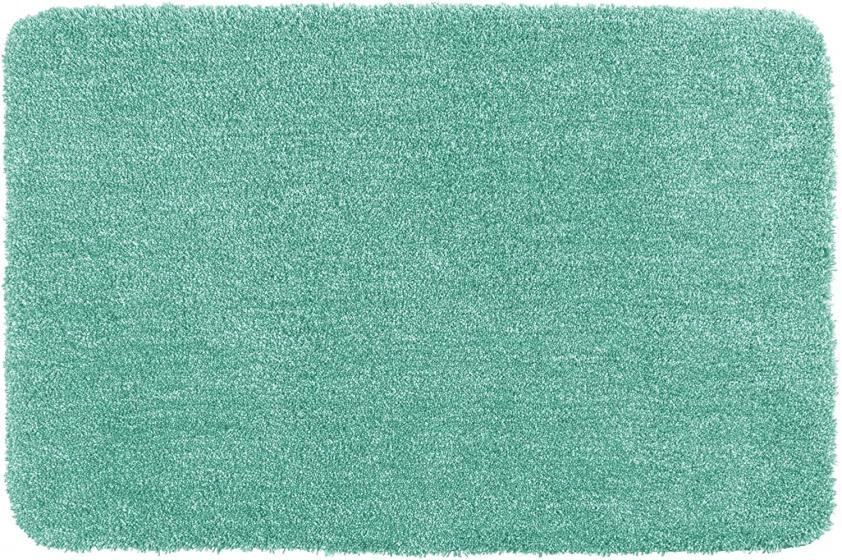 tapis de bain mixte 55 x 65 cm polyester vert menthe