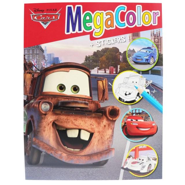 livre de coloriage Megacolor Cars 30 x 30 mm 30 pages de coloriage