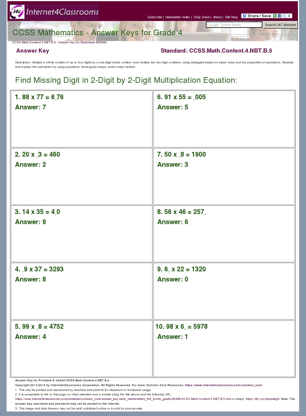 Answer Key Download