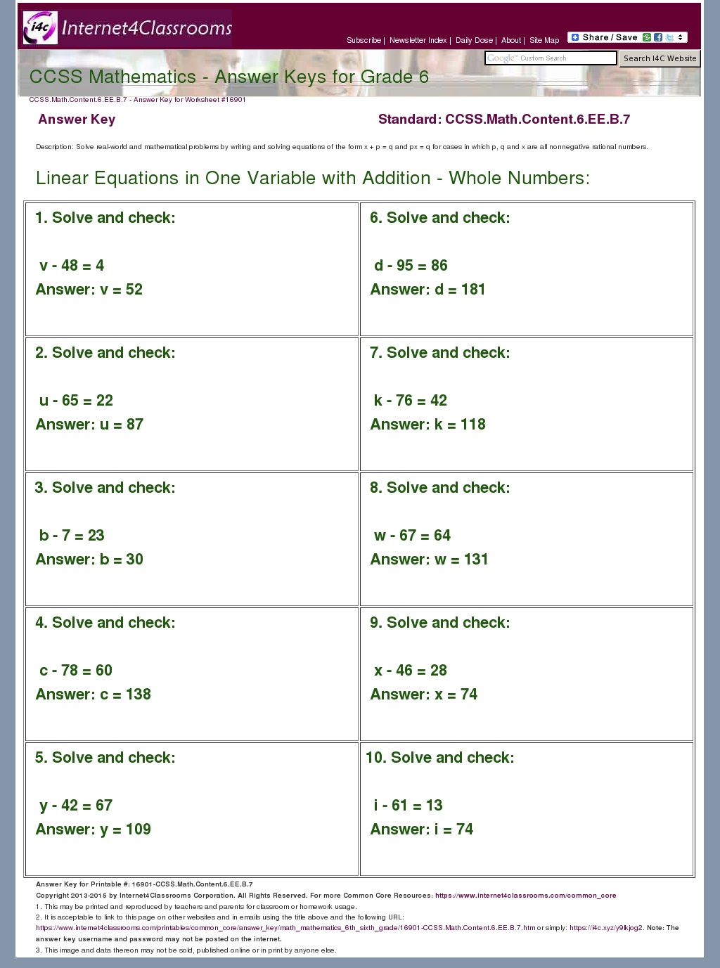 Data Worksheet Grade 6