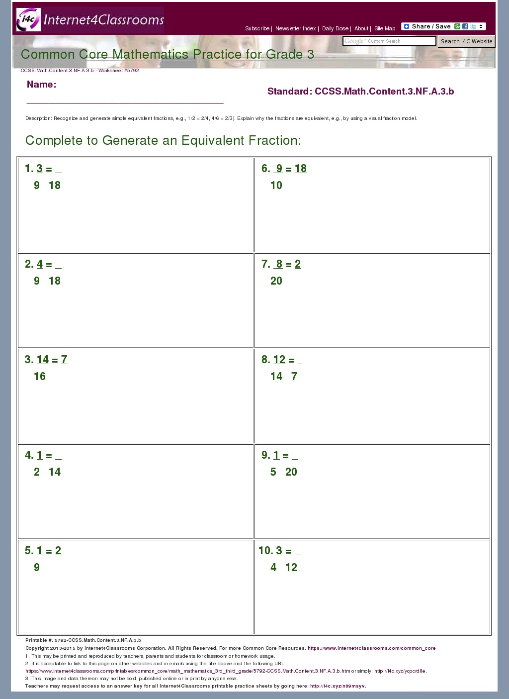 Worksheet Math Aids Equivalent Fractions Grass Fedjp Worksheet Study Site