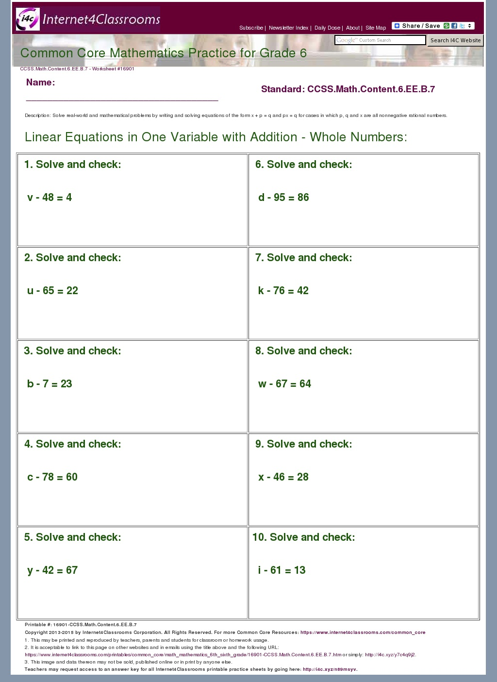 Cozy Answer Key Download Worksheet Ccssmathcontent