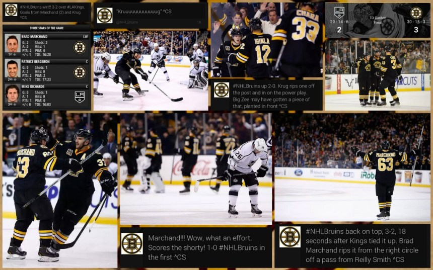 Bruins v Kings 1.20.2014