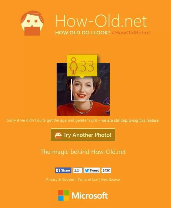 Analyse du genre et de l'âge avec Bing
