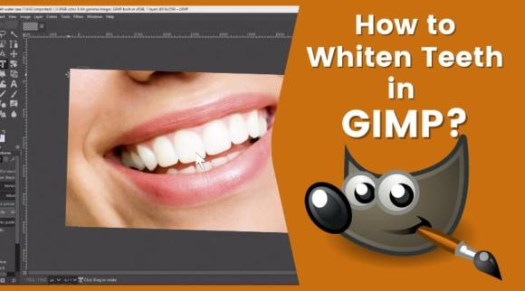 How to Whiten Teeth in GIMP