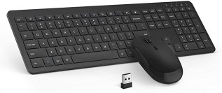 2.4GHz Wireless Keyboard and Mouse with Mouse-Pad