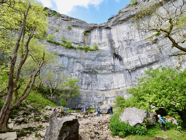Tourists at Malham Cove